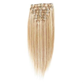 Clip-on Hair 50 cm lang #27/613 Hellblond Mix