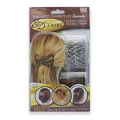 EZ Combs Haarspange - Silber (2er Pack)