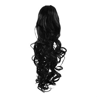 Ponytail Extensions 1# - Schwarz (Curly)