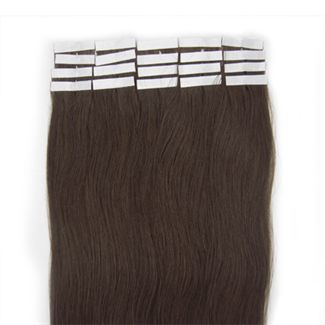 Tape-on Hair 50 cm Dunkelbraun 2#