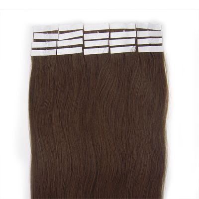 Tape-on Hair 50 cm Braun 4#