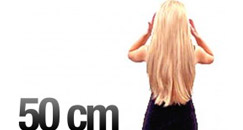50 cm Clip-on Hair