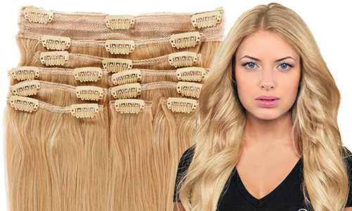 40 cm Clip-on Hair
