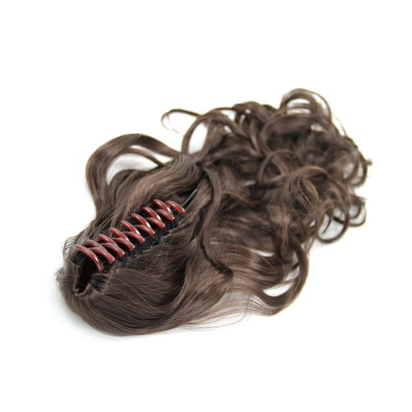 Ponytail Extensions curly braun 4# Claw