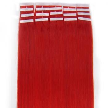 Tape-on Hair 50 cm Rot
